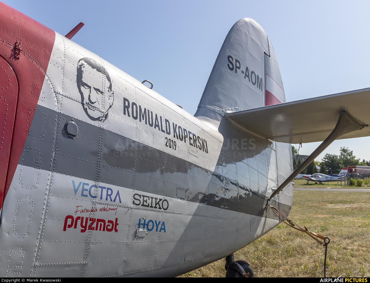 Aeroklub Dolnosląski SP-AOM aircraft at Warsaw - Frederic Chopin