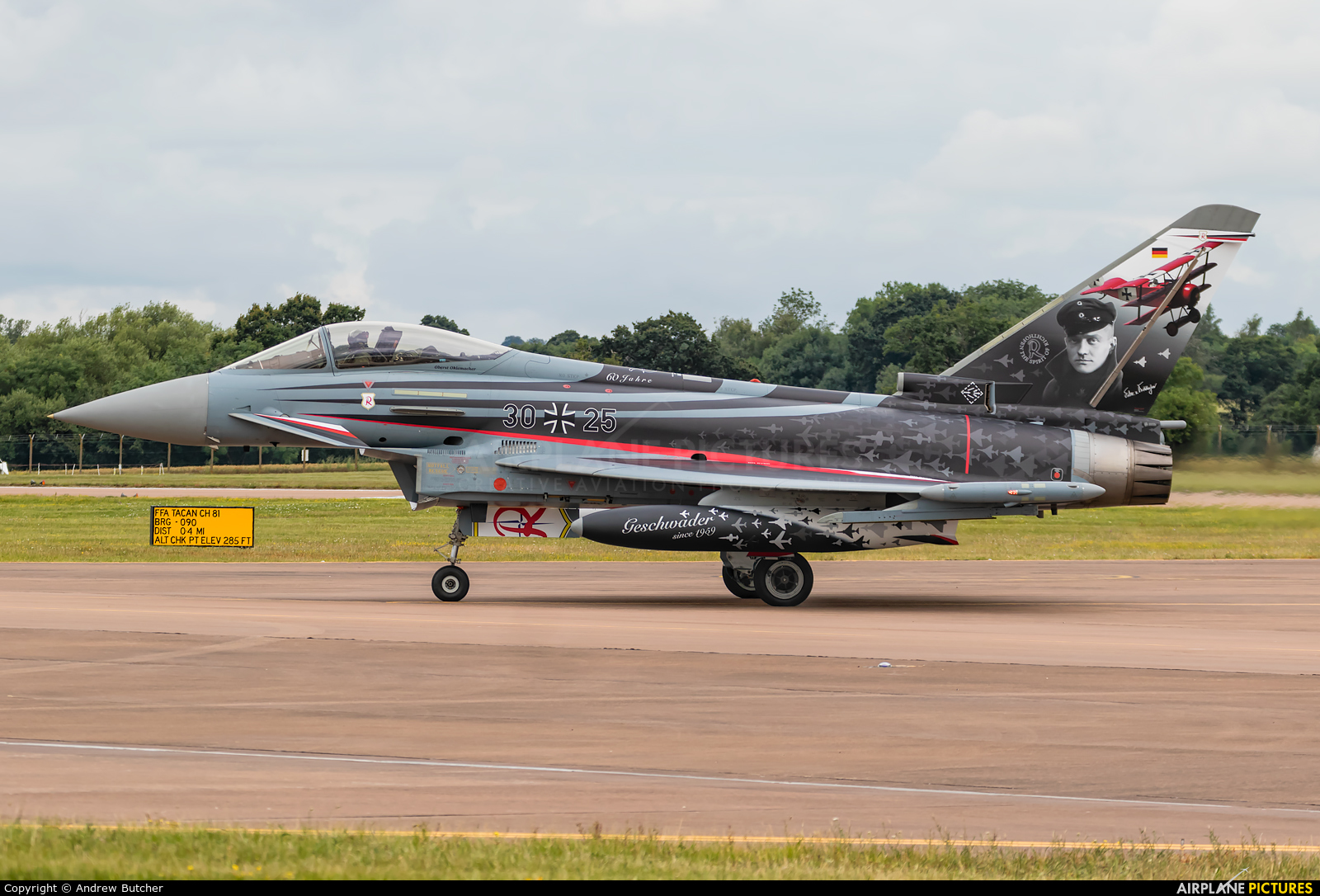 Germany - Air Force 30+25 aircraft at Fairford