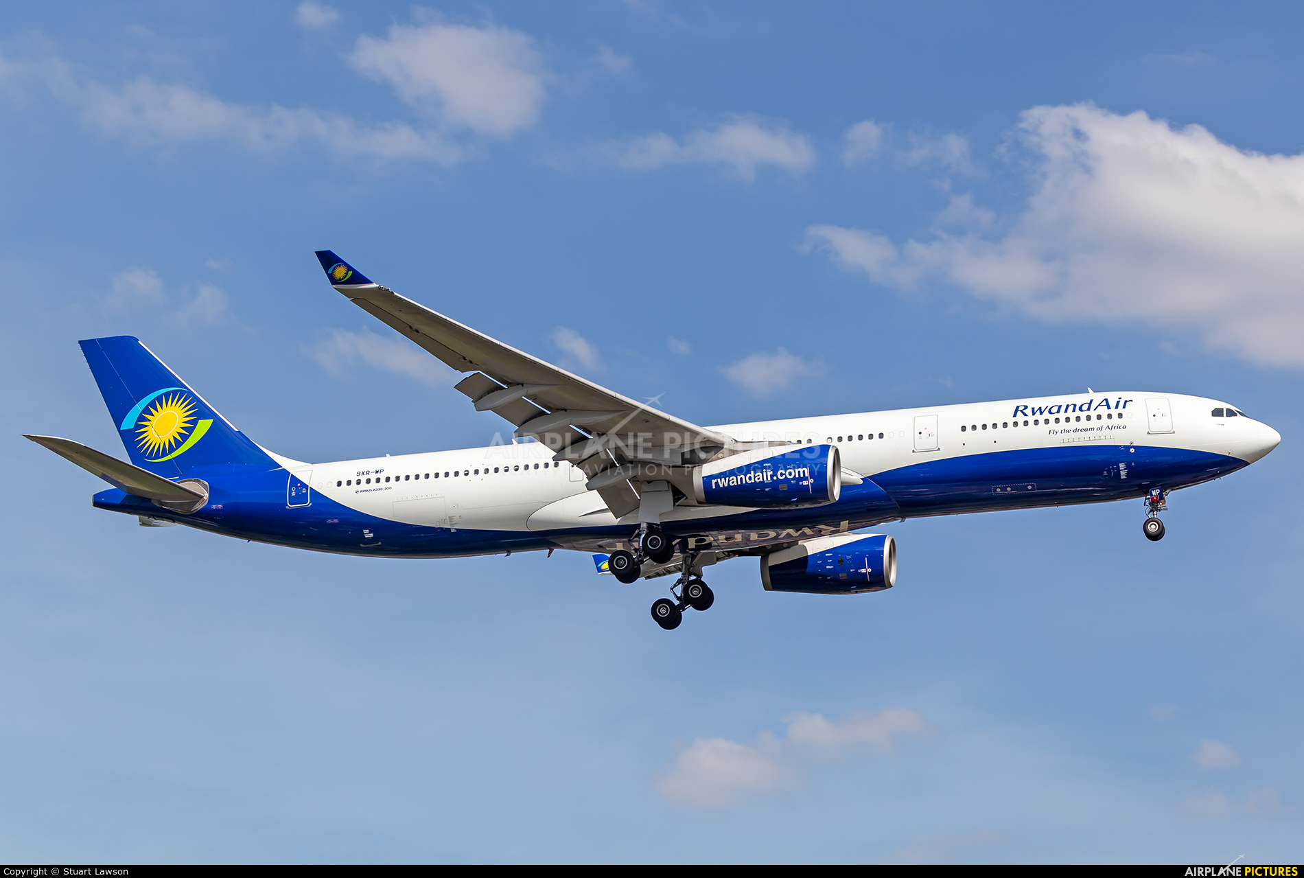 RwandAir 9XR-WP aircraft at Brussels - Zaventem