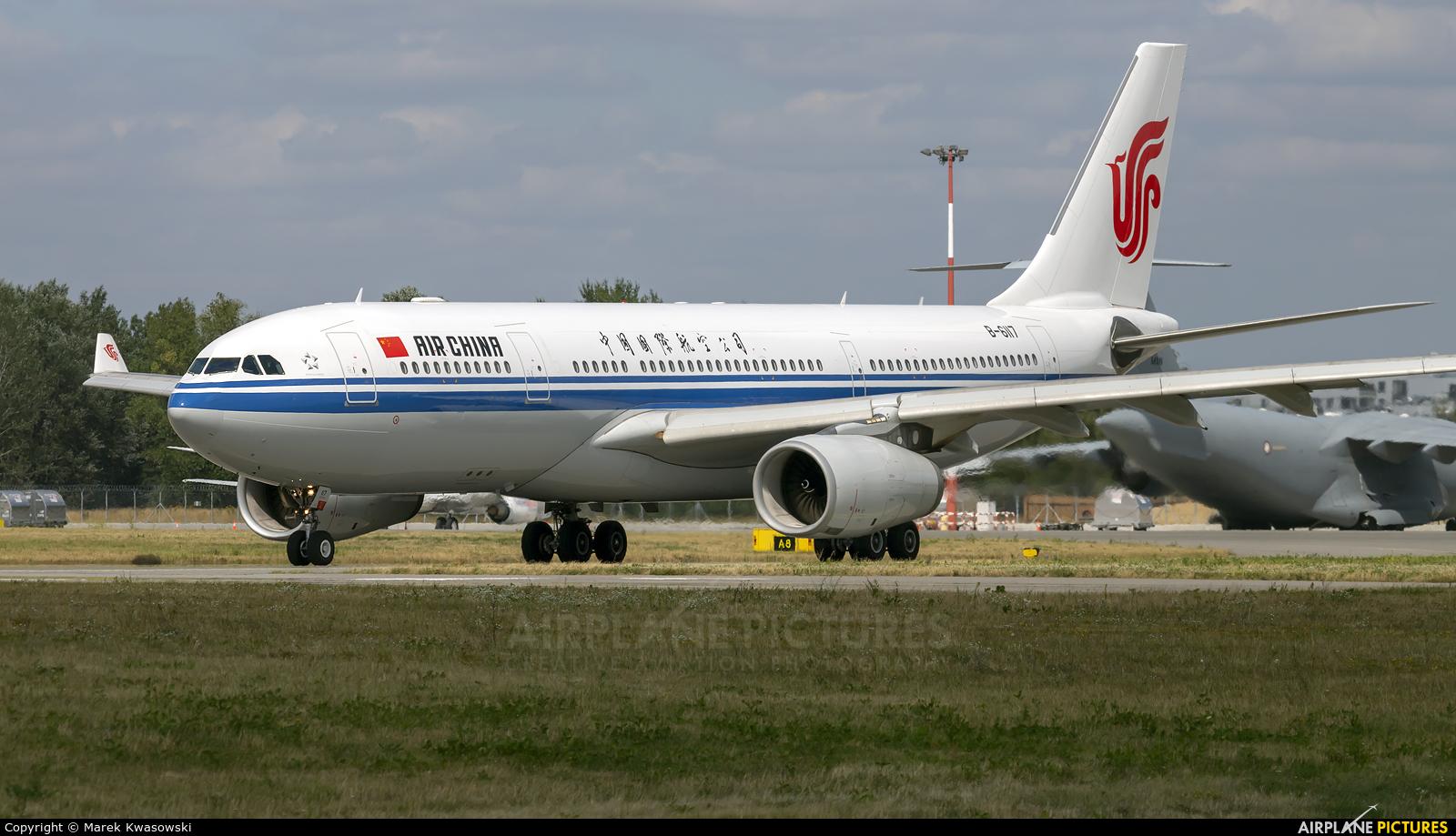 Air China B-6117 aircraft at Warsaw - Frederic Chopin