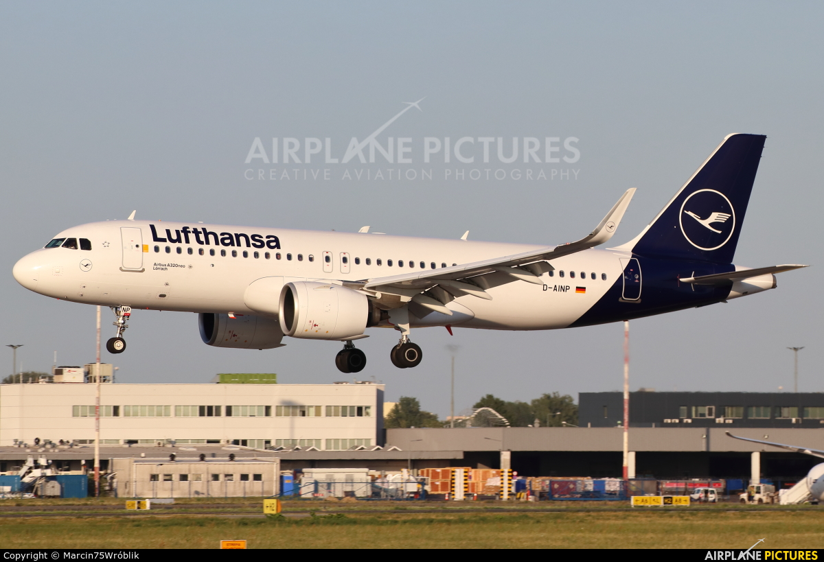 D-AINP - Lufthansa Airbus A320 NEO at Warsaw - Frederic