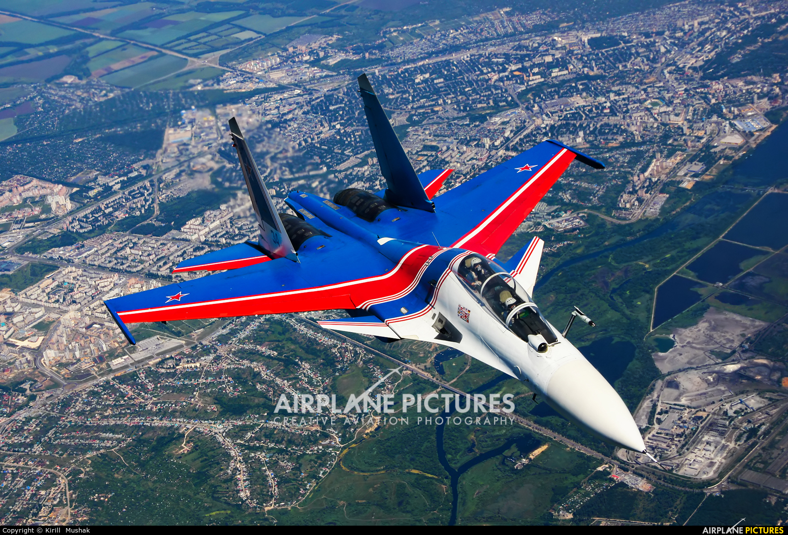 """Russia - Air Force """"Russian Knights"""" RF-81705 aircraft at In Flight - Russia"""