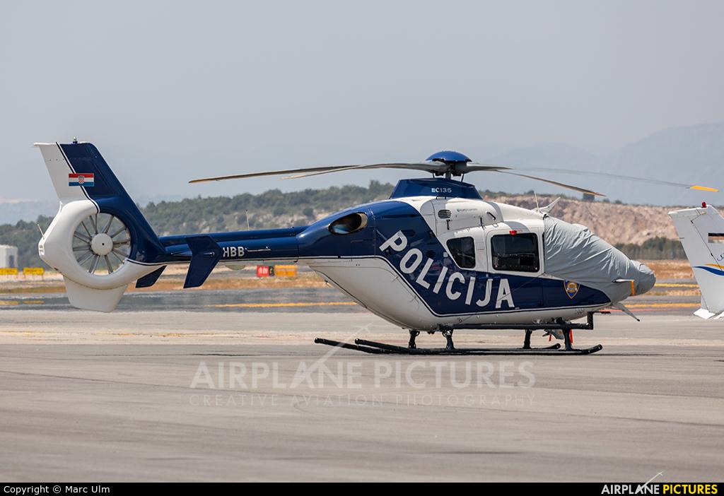 Croatia - Police 9A-HBB aircraft at Dubrovnik