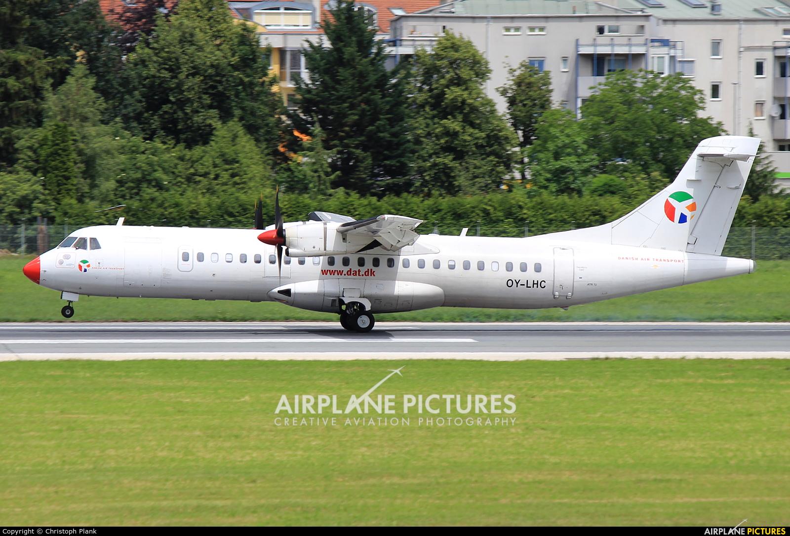 Danish Air Transport OY-LHC aircraft at Innsbruck