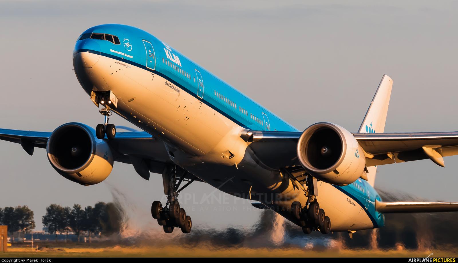 KLM PH-BVI aircraft at Amsterdam - Schiphol