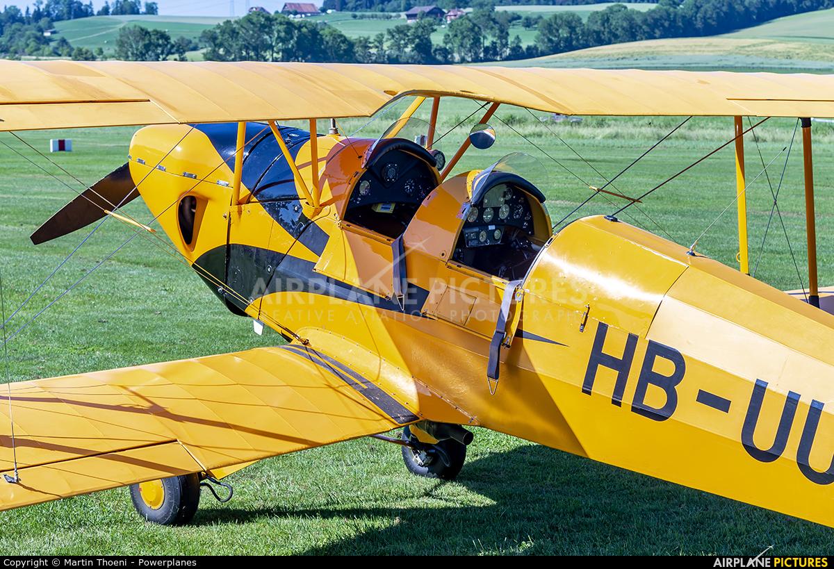 Private HB-UUV aircraft at Luzern-Beromünster