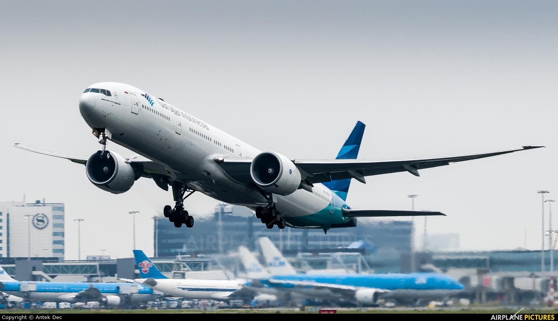 Garuda Indonesia PK-GID aircraft at Amsterdam - Schiphol