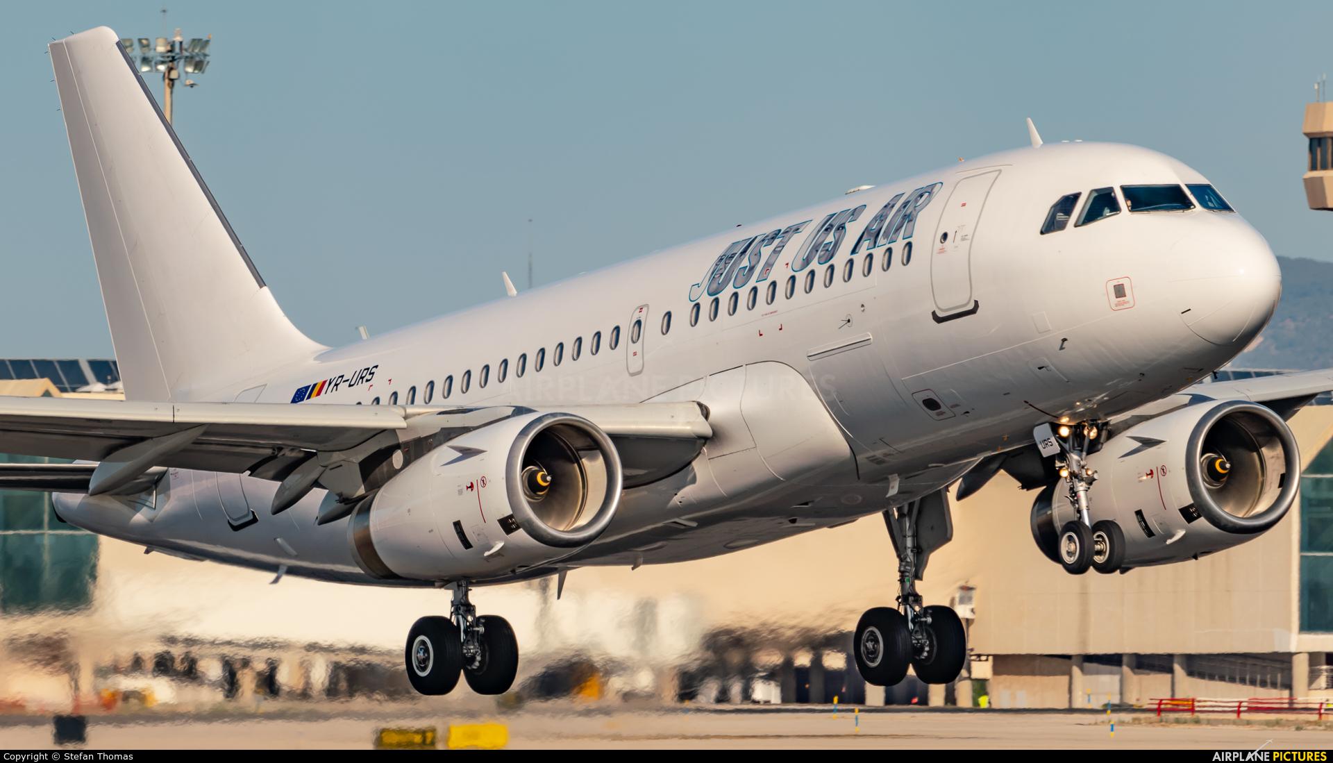 Just US Air YR-URS aircraft at Palma de Mallorca