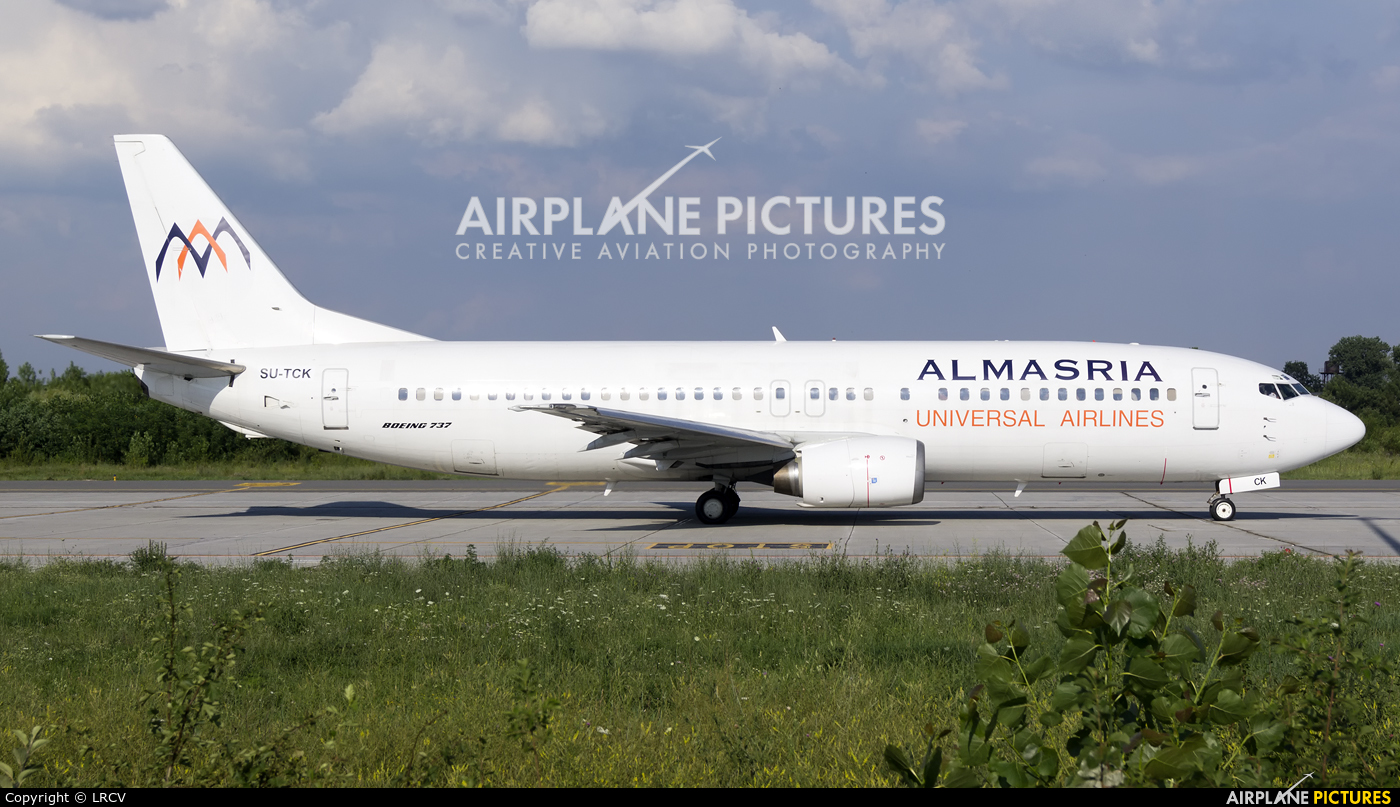 Almasria Universal Airlines SU-TCK aircraft at Craiova