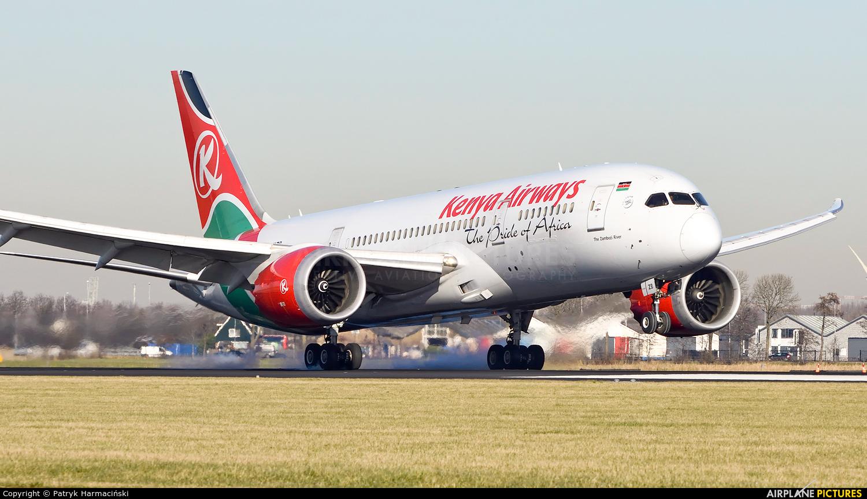 Kenya Airways 5Y-KZB aircraft at Amsterdam - Schiphol