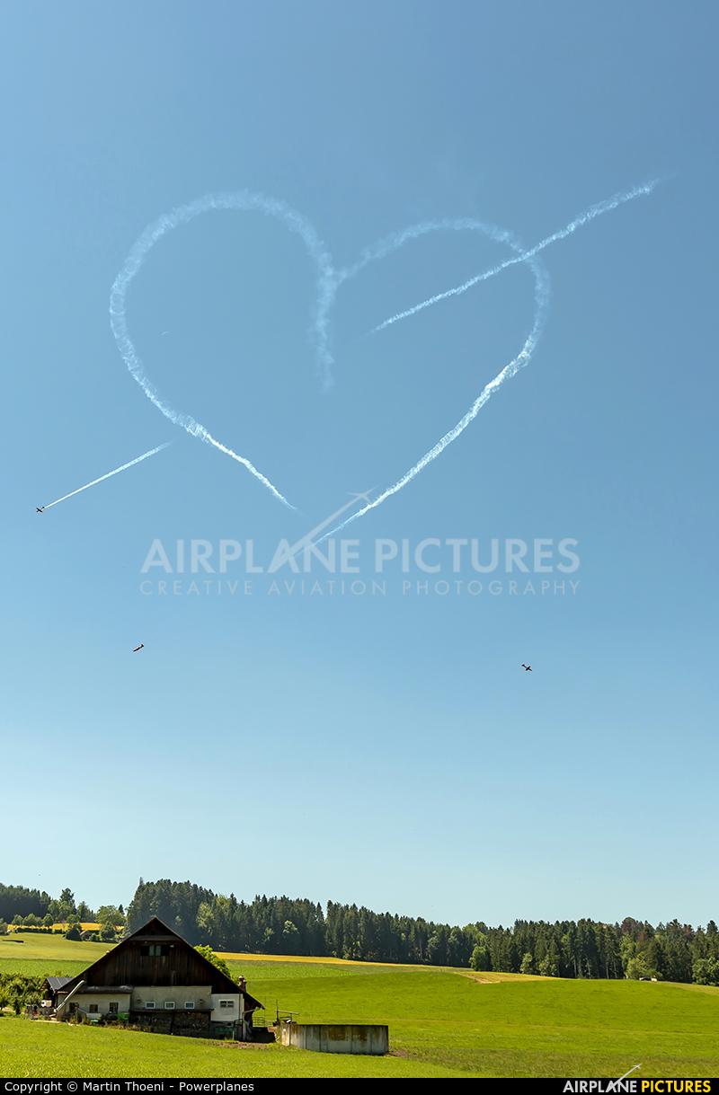 Switzerland - Air Force: PC-7 Team A-9** aircraft at Luzern-Beromünster
