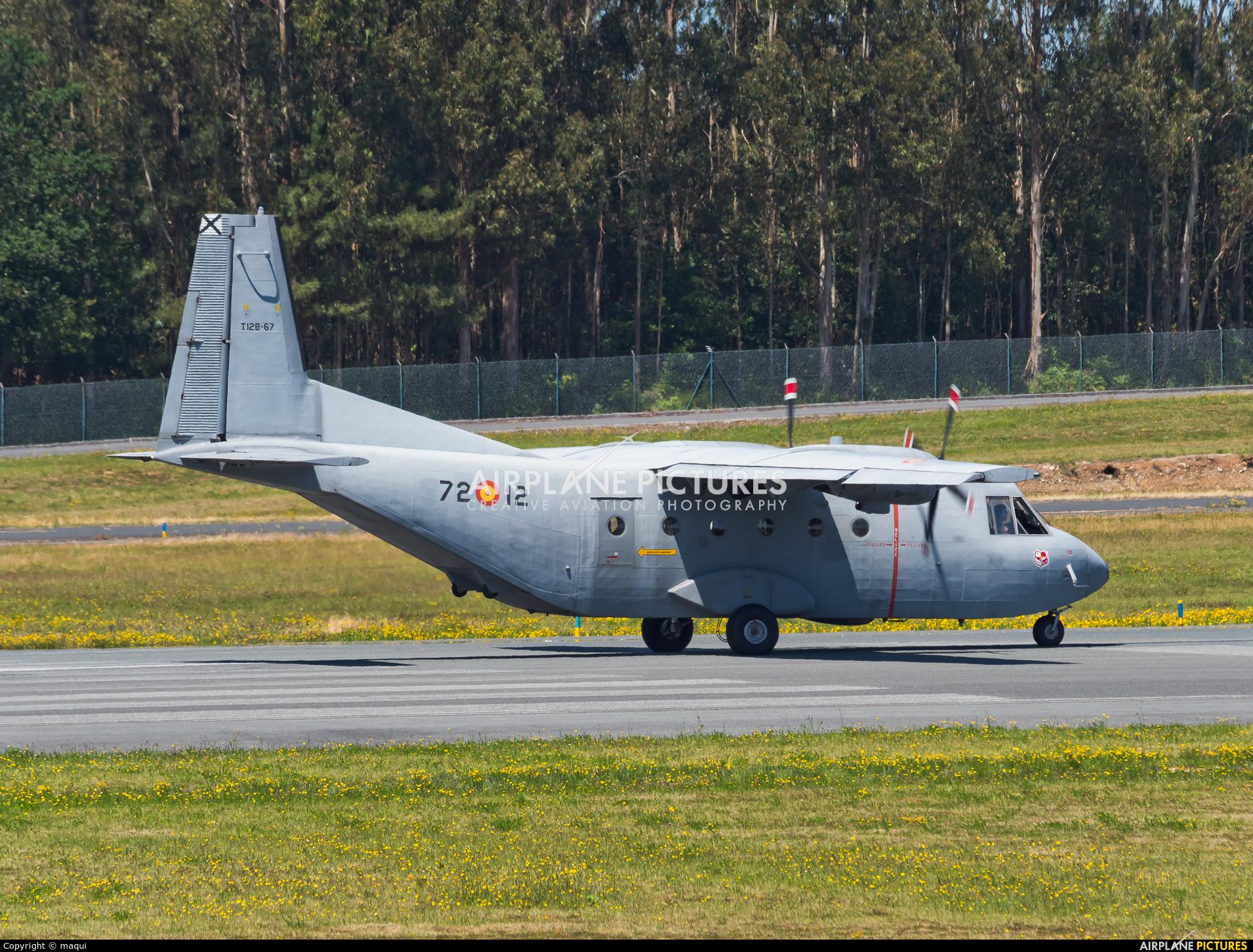 Spain - Air Force T.12B-67 aircraft at Santiago de Compostela