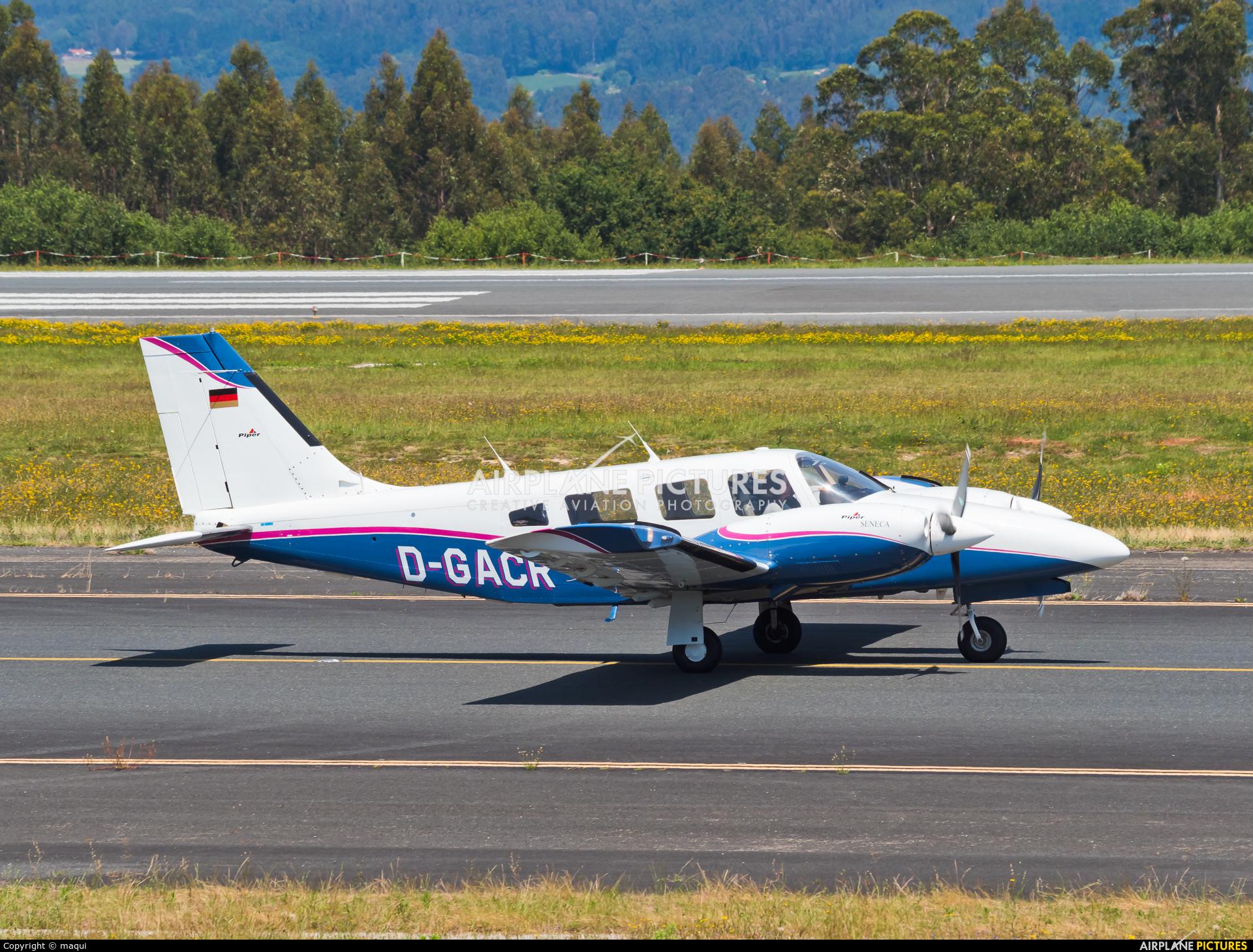 Private D-GACR aircraft at Santiago de Compostela