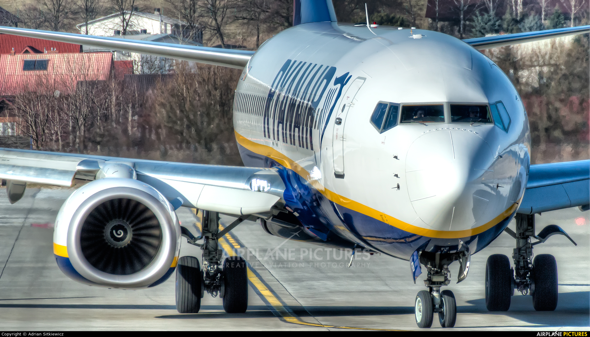 Ryanair EI-FZB aircraft at Kraków - John Paul II Intl