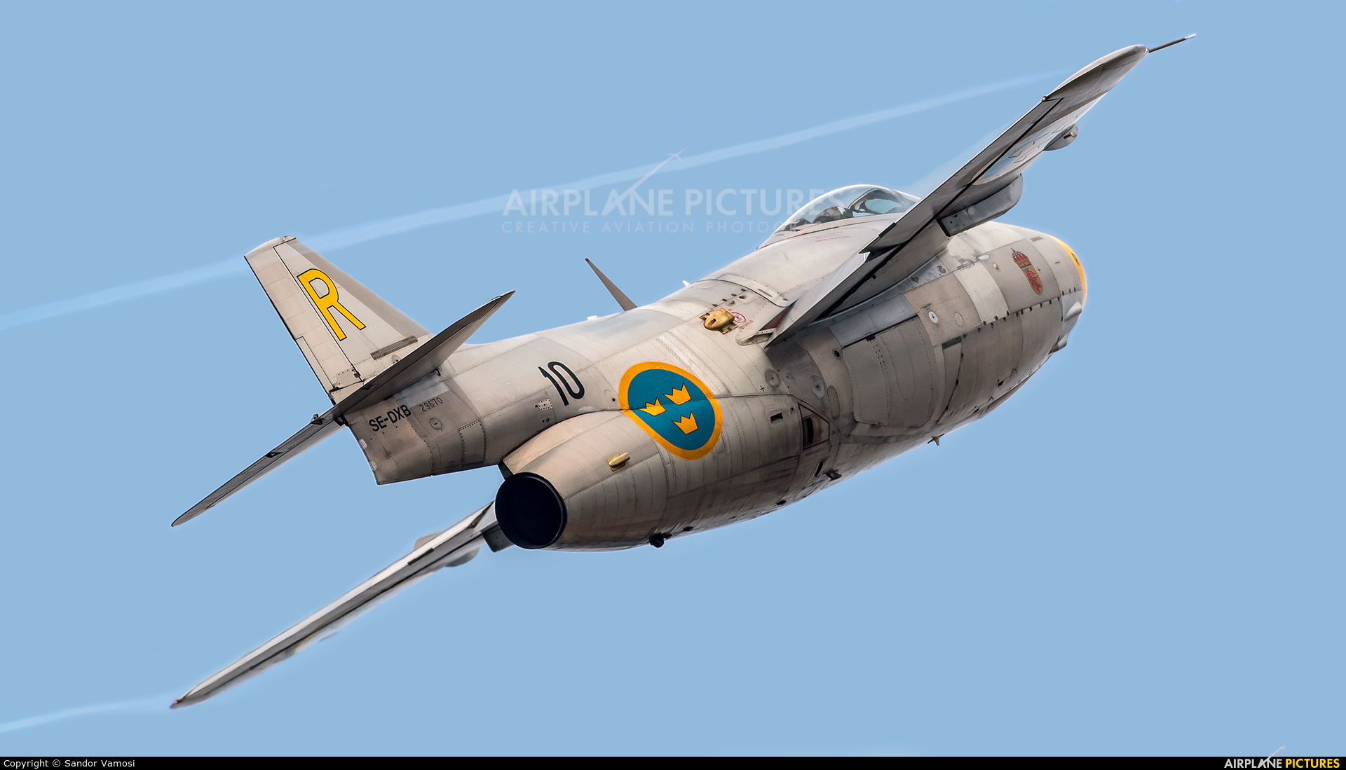 Swedish Air Force Historic Flight SE-DXB aircraft at Ostrava Mošnov