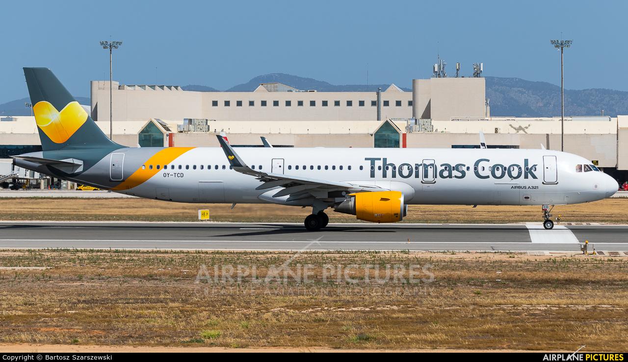 Thomas Cook Scandinavia OY-TCD aircraft at Palma de Mallorca