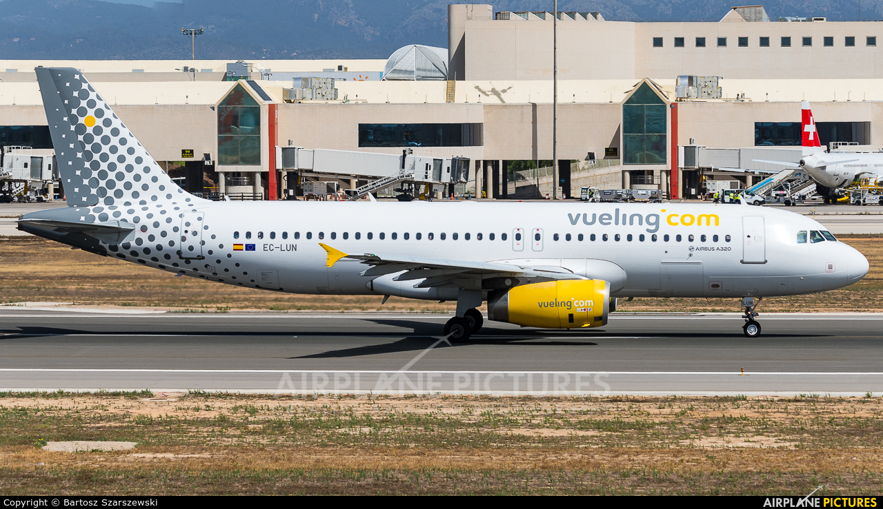 Vueling Airlines EC-LUN aircraft at Palma de Mallorca
