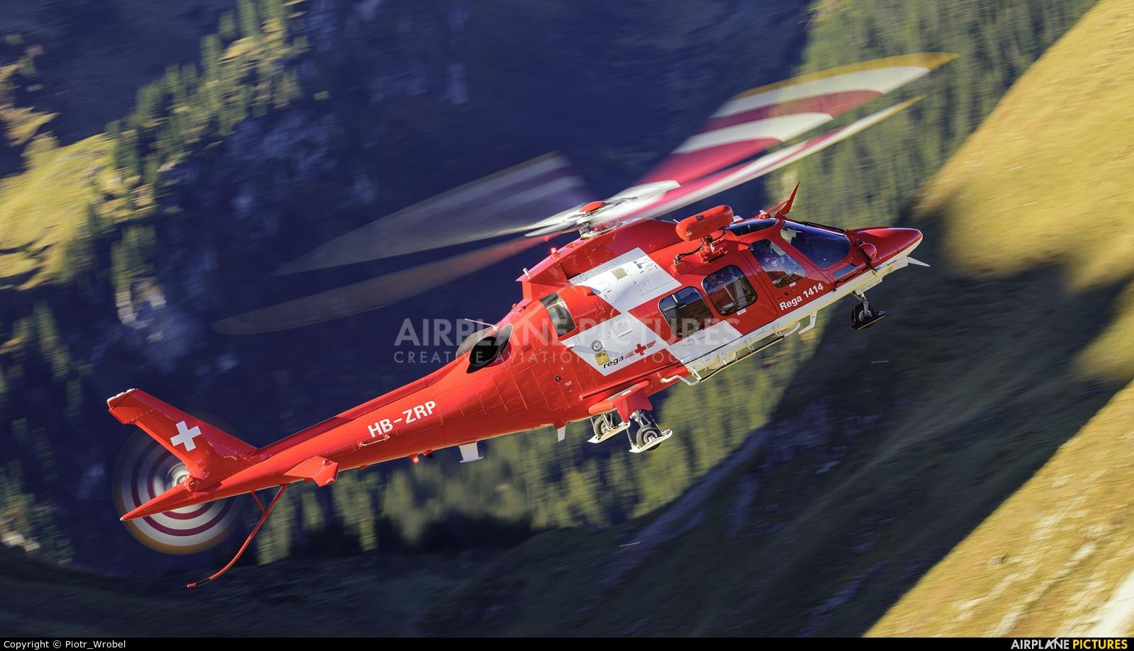 REGA Swiss Air Ambulance  - aircraft at Axalp - Ebenfluh Range