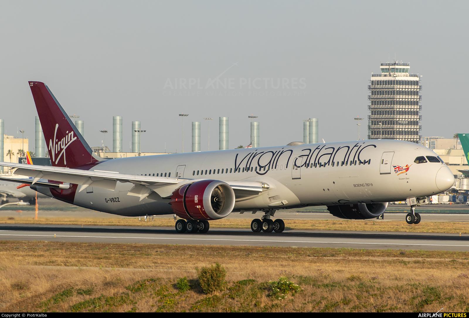 Virgin Atlantic G-VBZZ aircraft at Los Angeles Intl