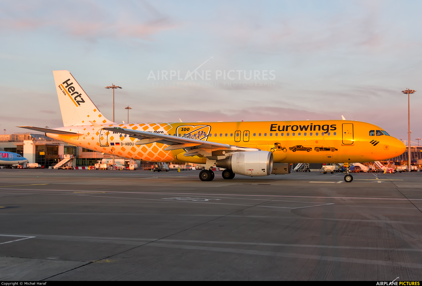 Eurowings D-ABDU aircraft at Dublin