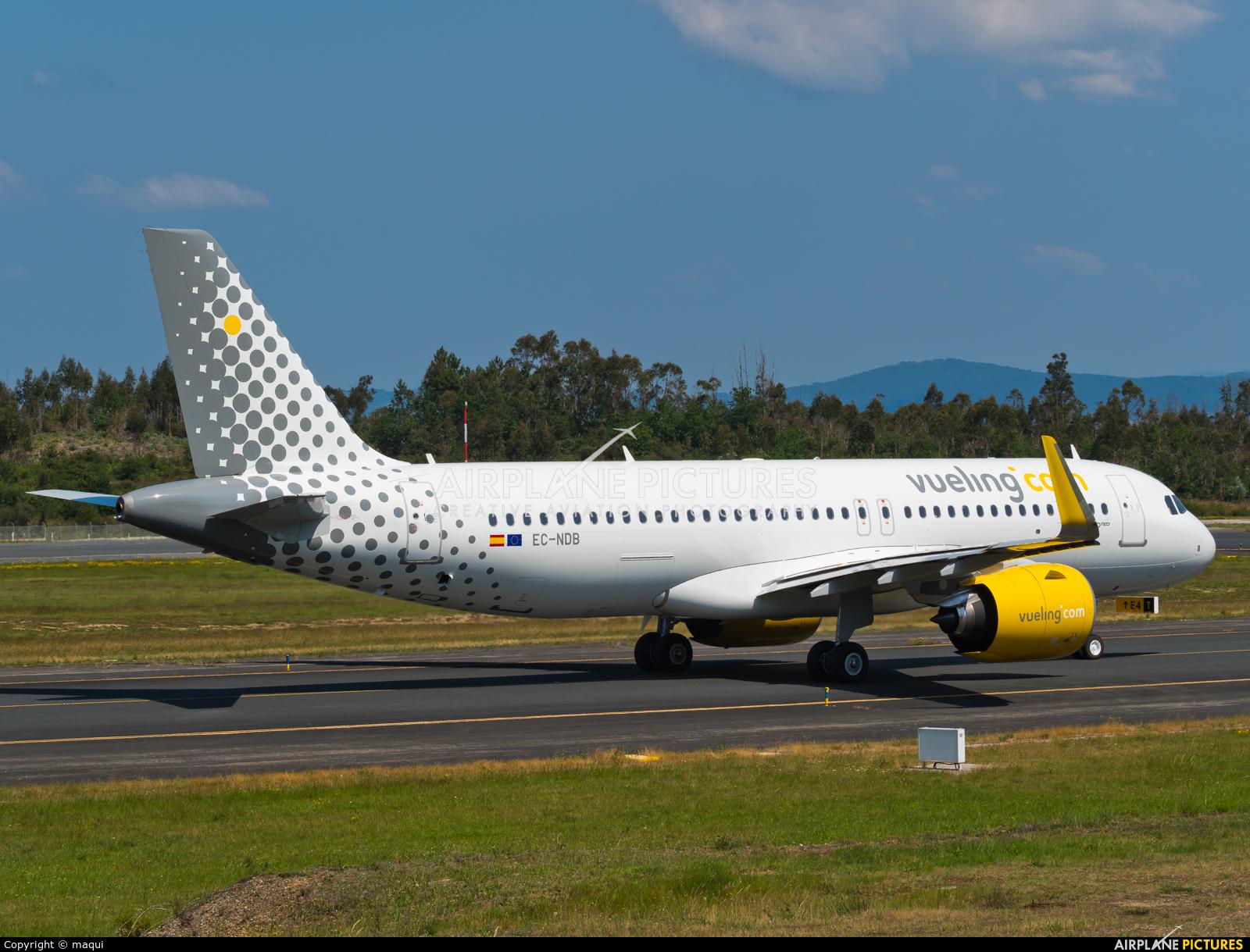 Vueling Airlines EC-NDB aircraft at Santiago de Compostela