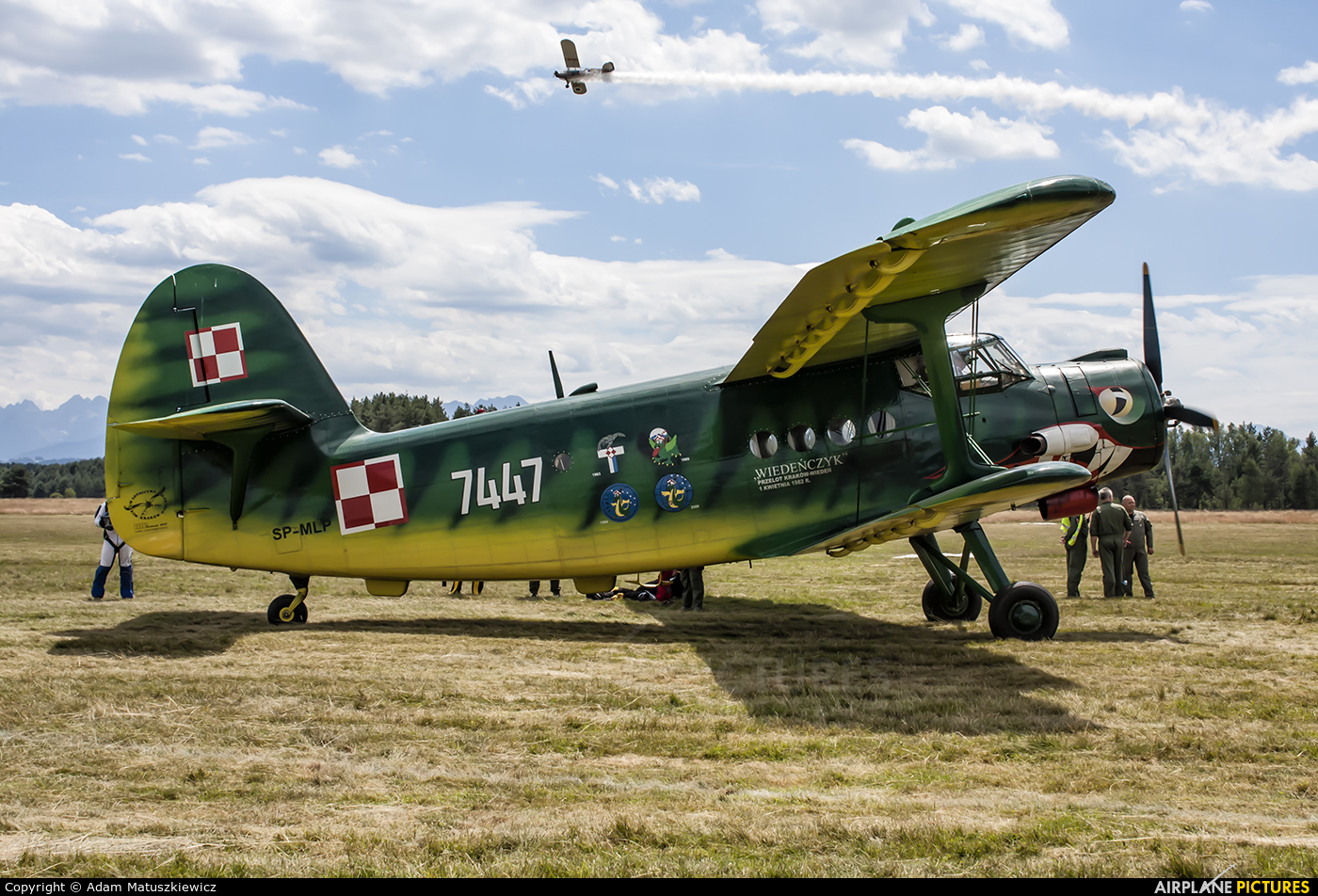 Private SP-MLP aircraft at Nowy Targ