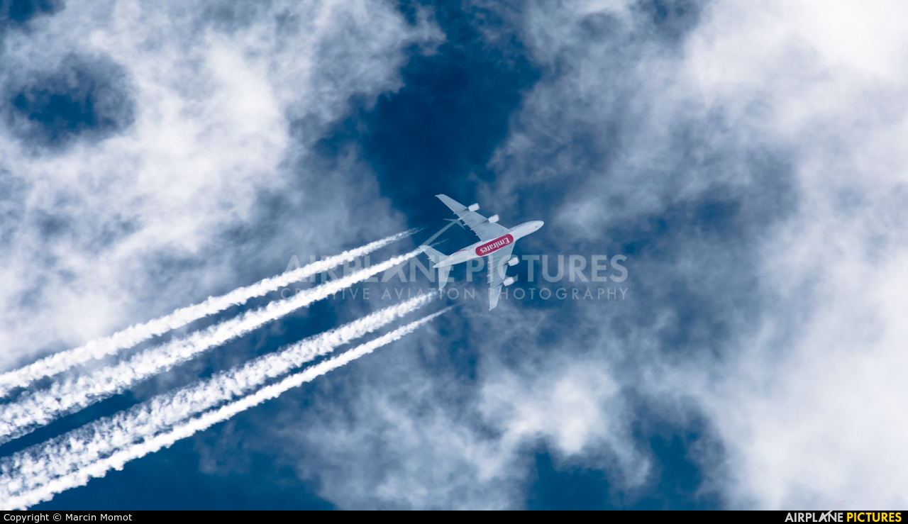 Emirates Airlines A6-EDJ aircraft at In Flight - Poland