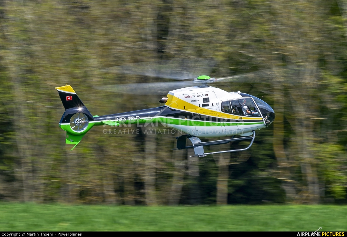 Swiss Helicopter HB-ZLR aircraft at Off Airport - Pfaffnau