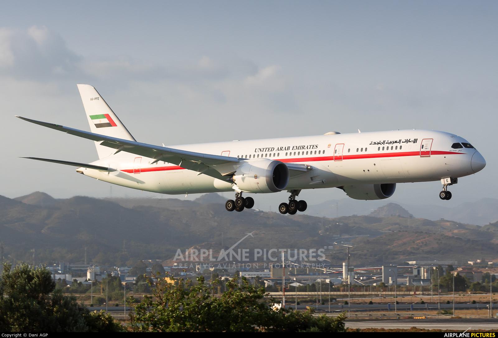 Abu Dhabi Amiri Flight A6-PFE aircraft at Málaga