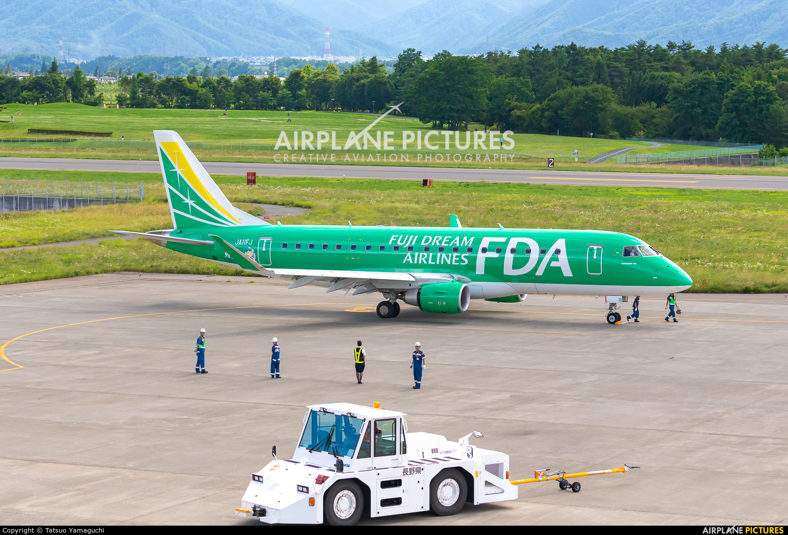 Fuji Dream Airlines JA11FJ aircraft at Shinshu - Matsumoto