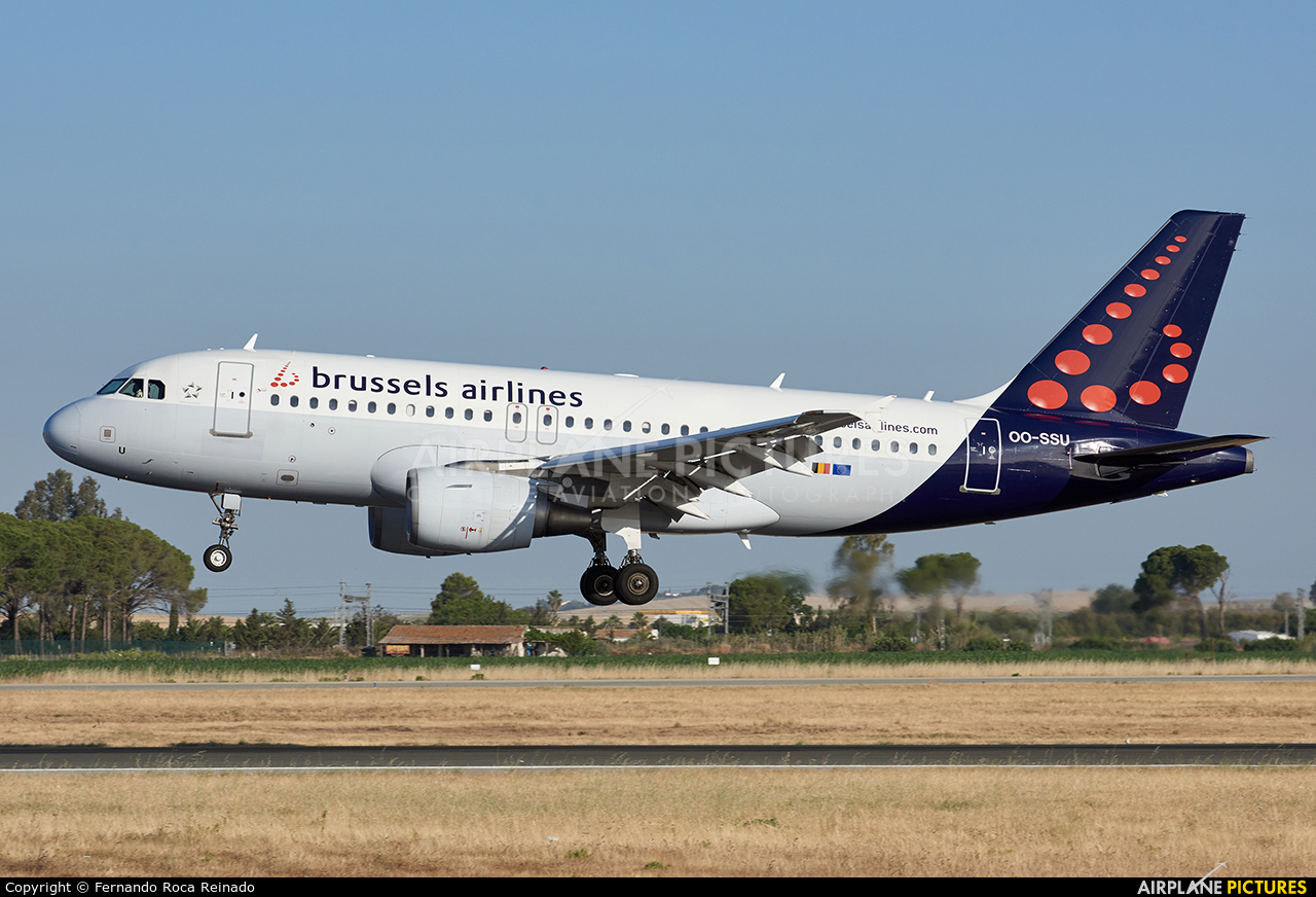 Brussels Airlines OO-SSU aircraft at Jerez de la Frontera
