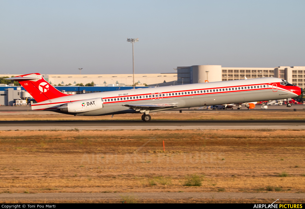 Danish Air Transport OY-RUT aircraft at Palma de Mallorca