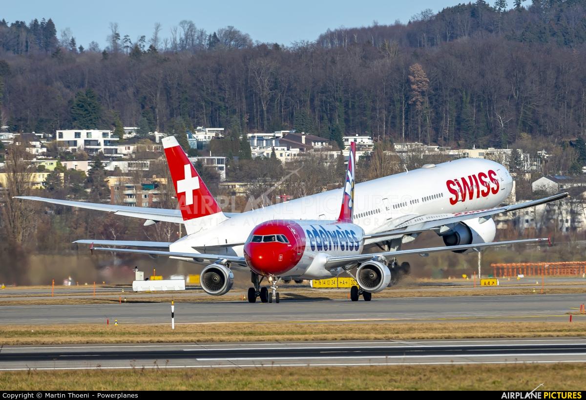 Edelweiss HB-JJL aircraft at Zurich