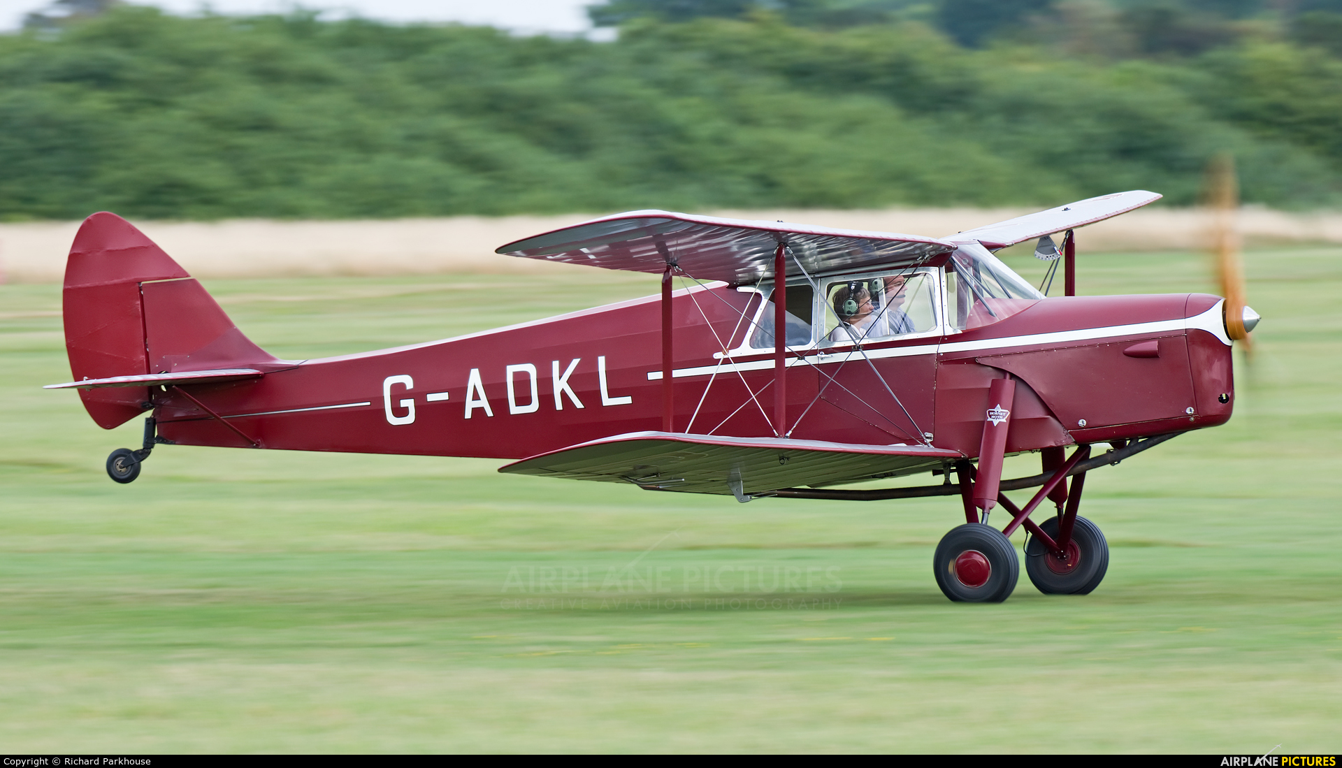 Private G-ADKL aircraft at Old Warden
