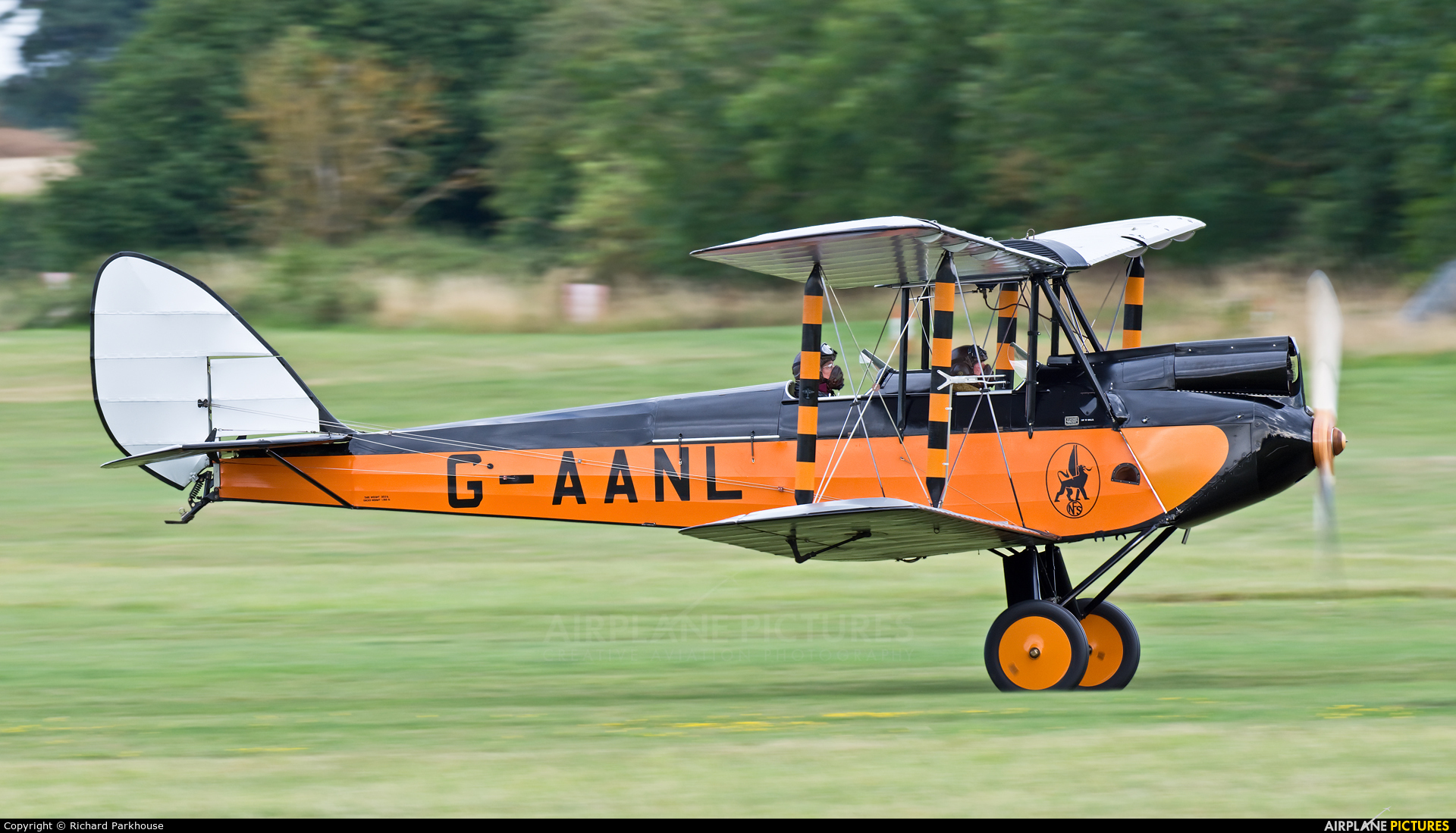 Private G-AANL aircraft at Old Warden