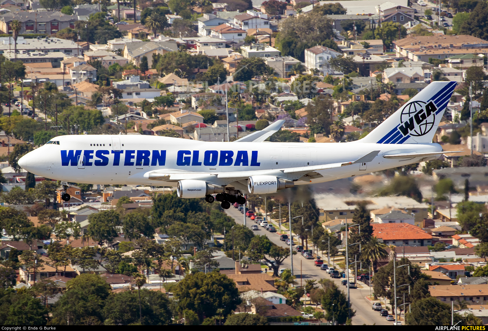 Western Global Airlines N356KD aircraft at Los Angeles Intl