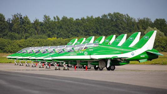 #1 Saudi Arabia - Air Force: Saudi Hawks British Aerospace Hawk T.1/ 1A 8820 taken by Paweł Glink