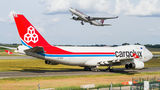 Cargolux Boeing 747-400F, ERF LX-WCV at Budapest Ferenc Liszt International Airport airport