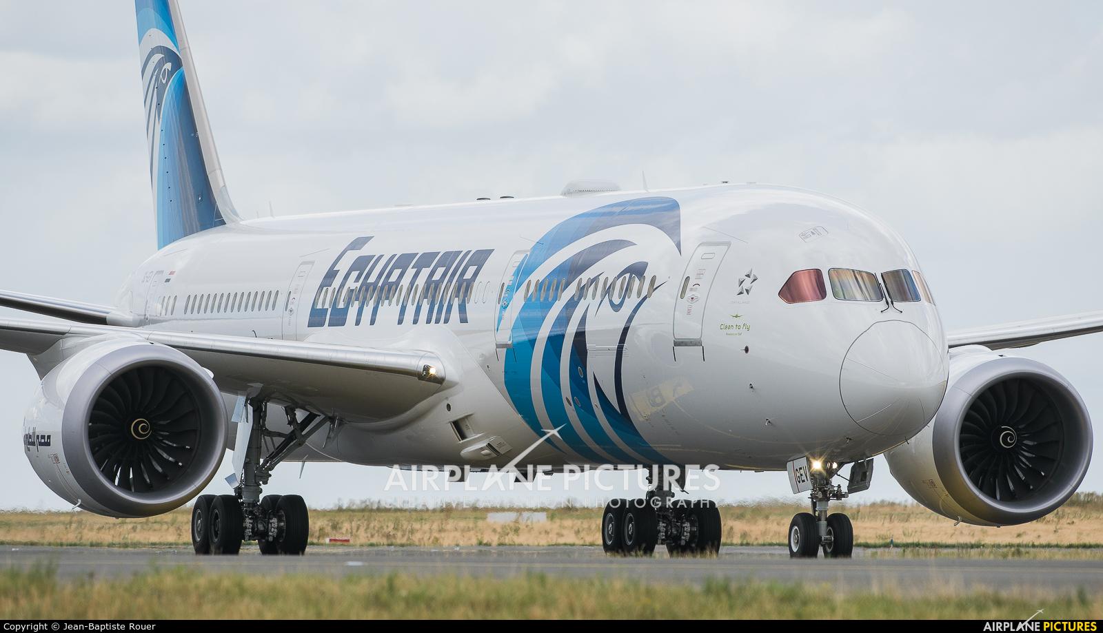 Egyptair SU-GEV aircraft at Paris - Charles de Gaulle