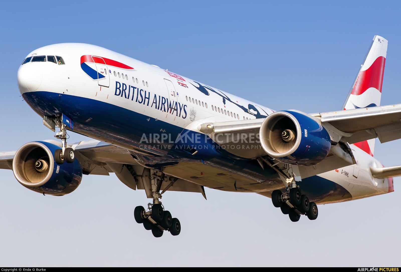 British Airways G-YMML aircraft at London - Heathrow