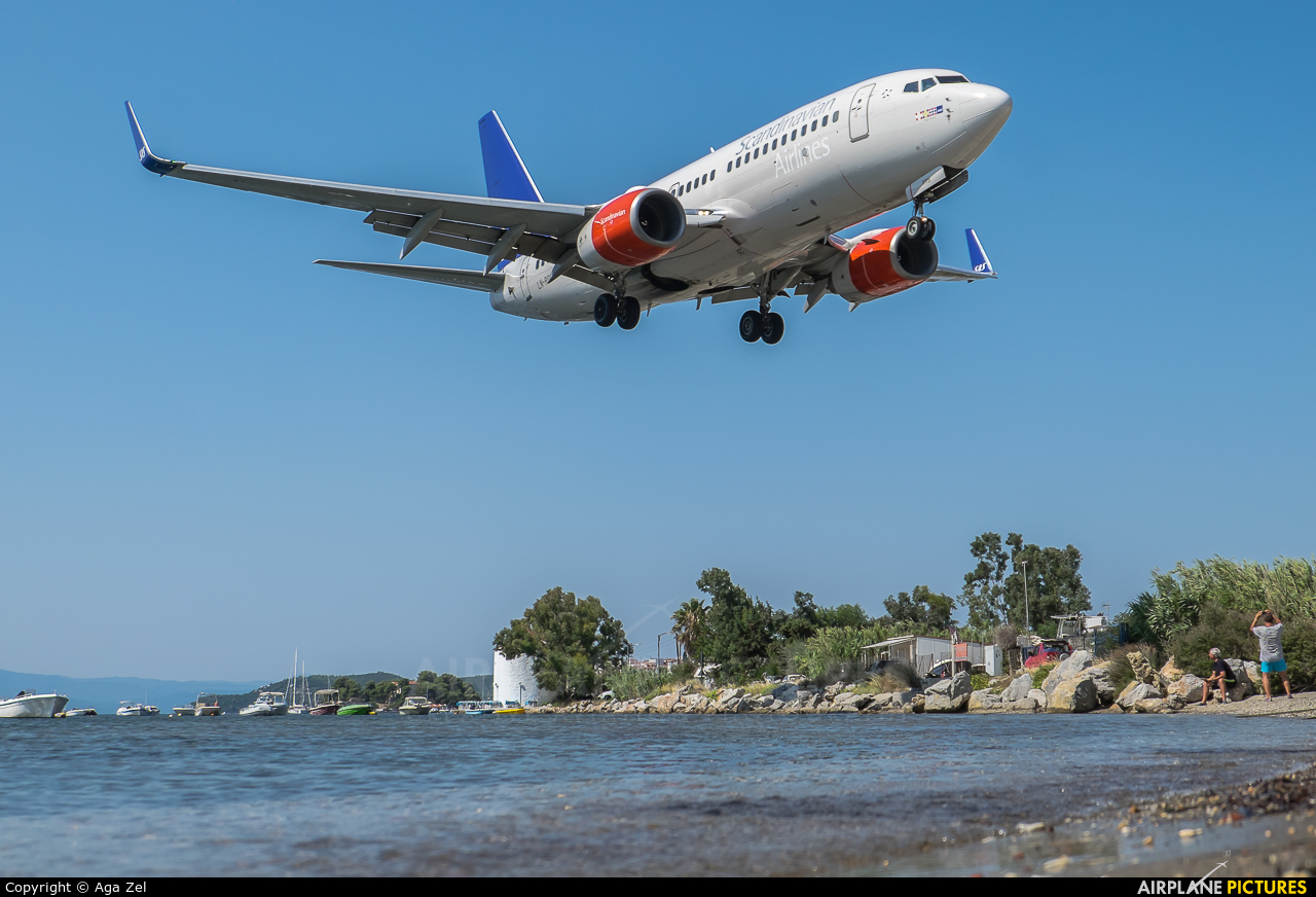 SAS - Scandinavian Airlines LN-RRB aircraft at Skiathos
