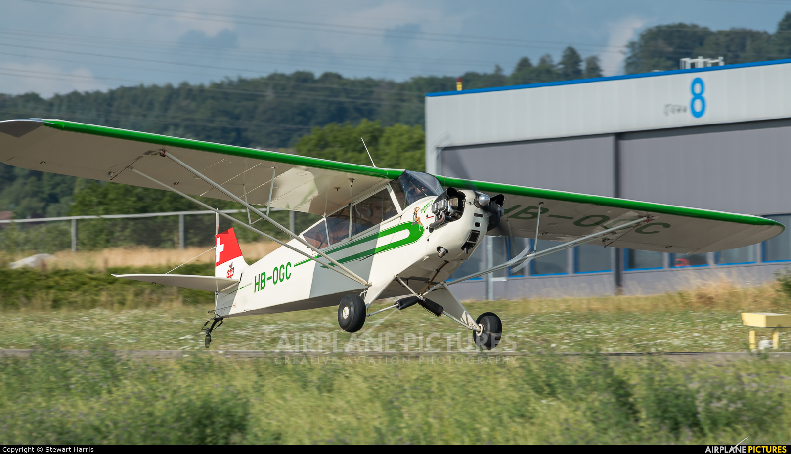 Private HB-OGC aircraft at Lausanne - La Blécherette