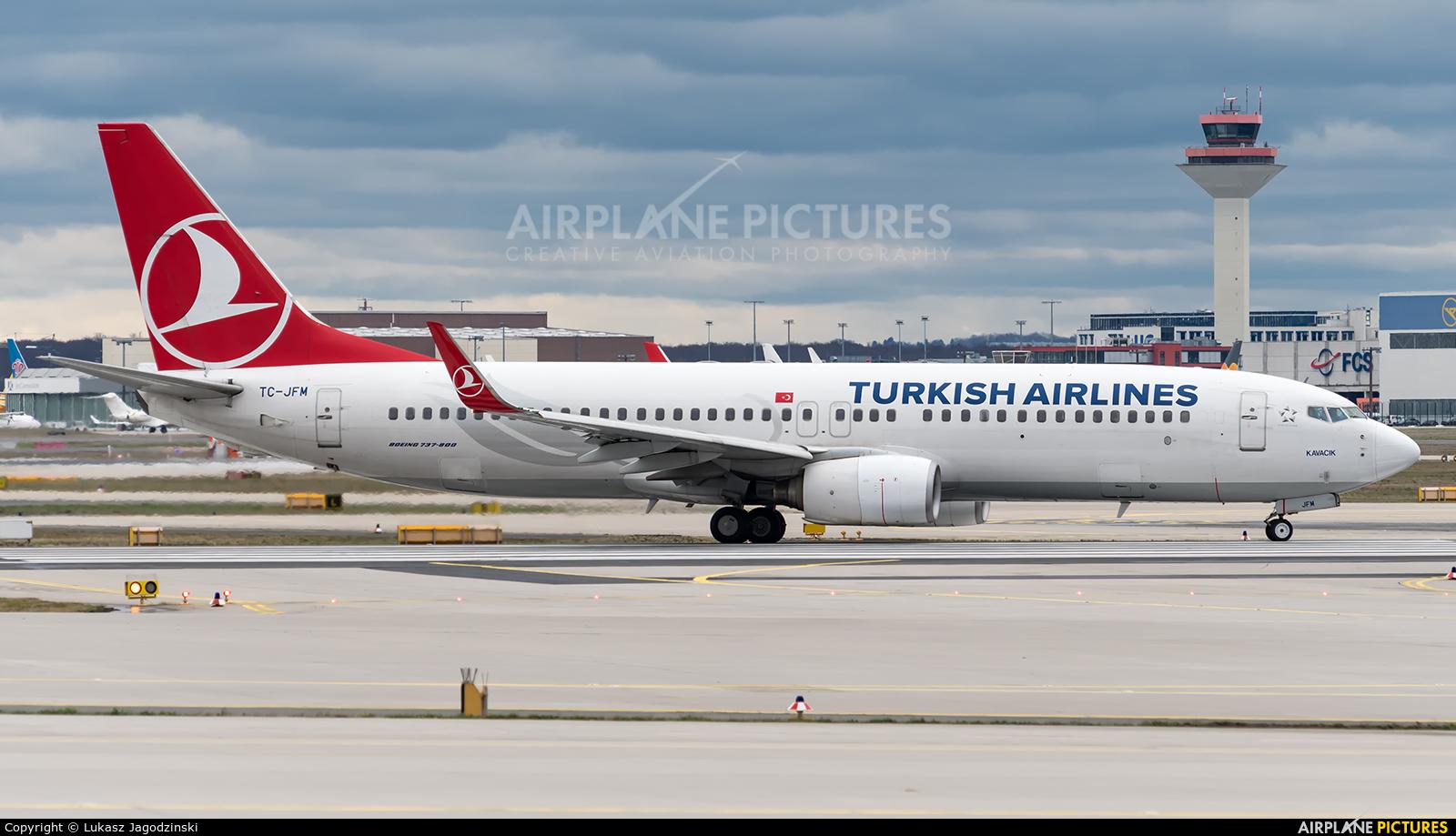 Turkish Airlines TC-JFM aircraft at Frankfurt