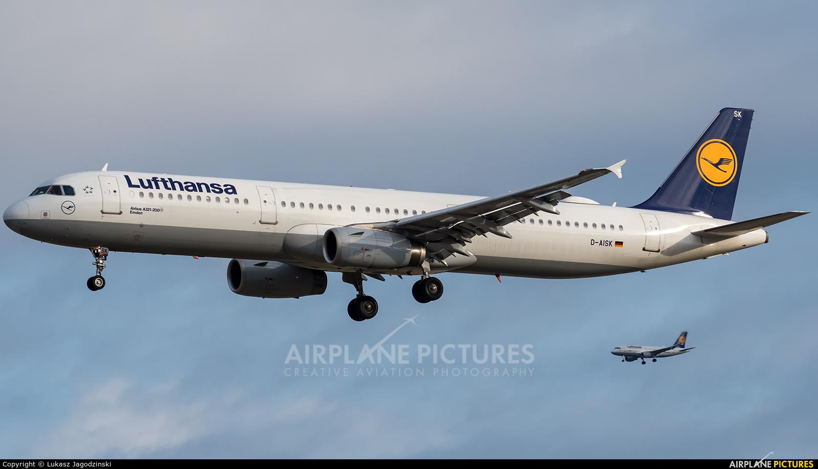 Lufthansa D-AISK aircraft at Frankfurt