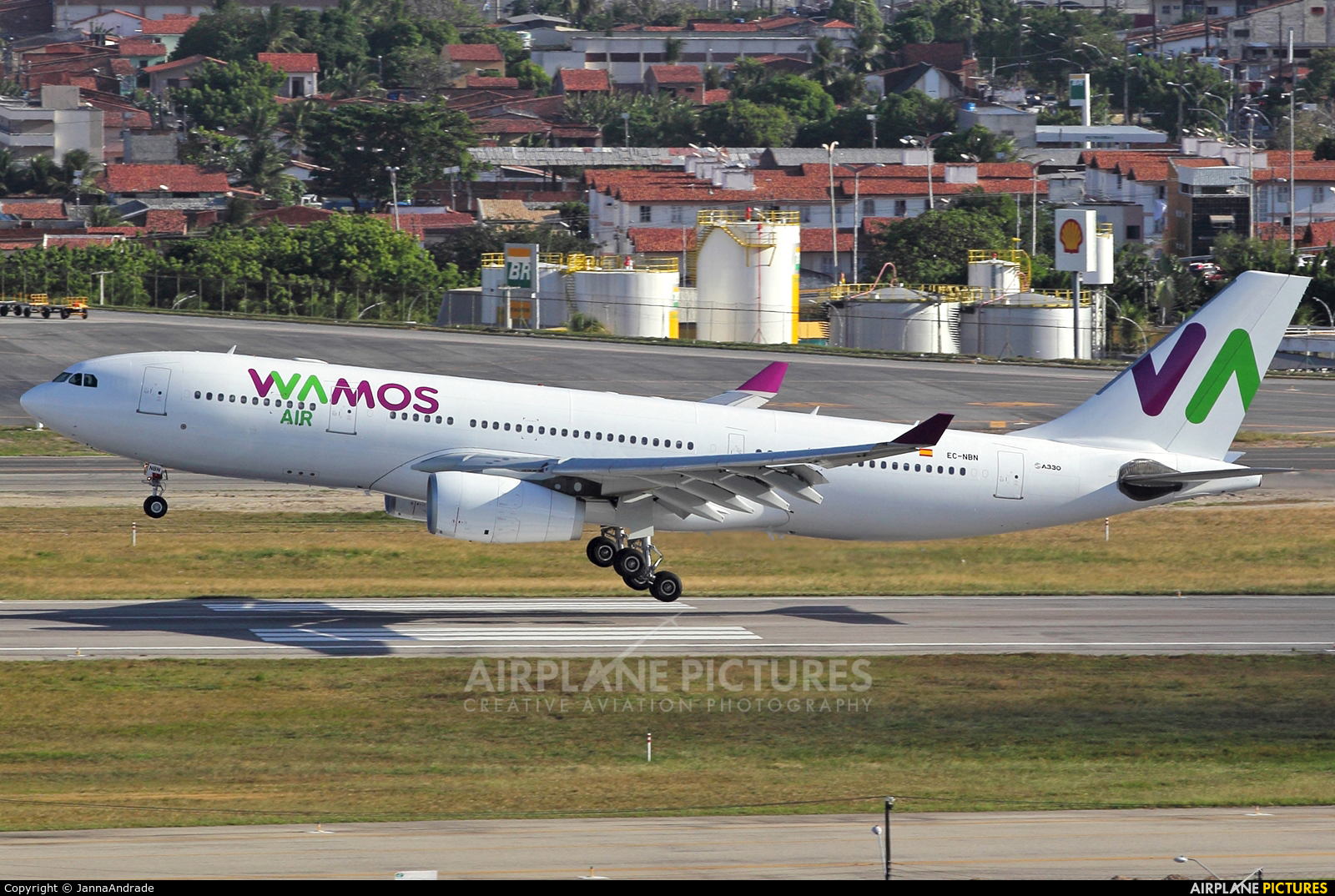 Wamos Air EC-NBN aircraft at Fortaleza