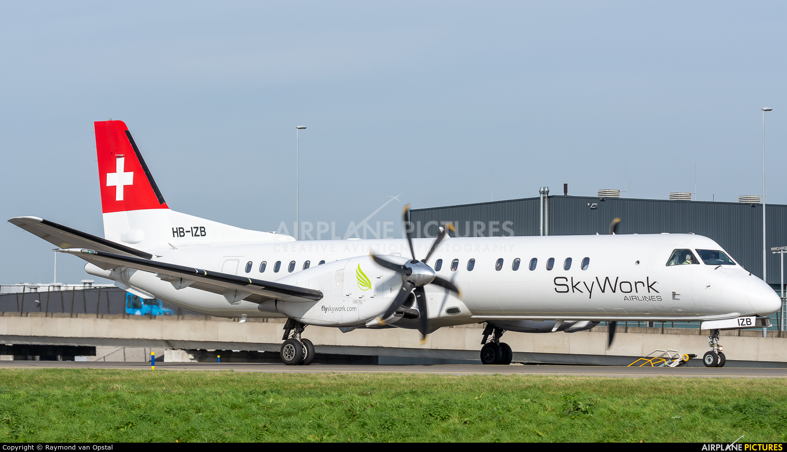 Sky Work Airlines HB-IZB aircraft at Amsterdam - Schiphol