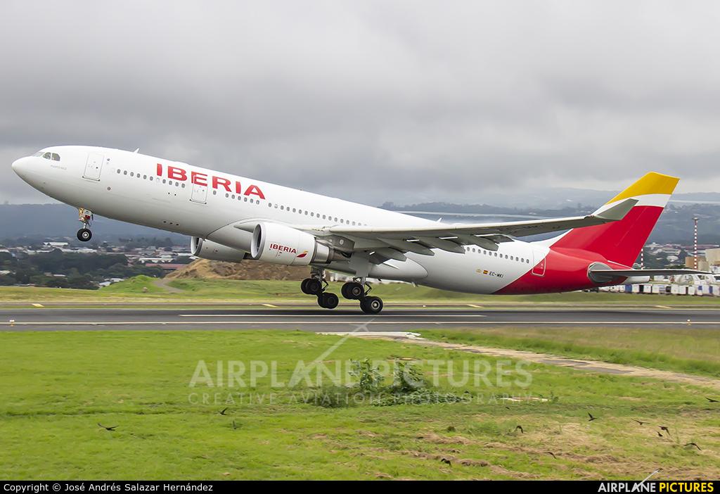 Iberia EC-MKI aircraft at San Jose - Juan Santamaría Intl