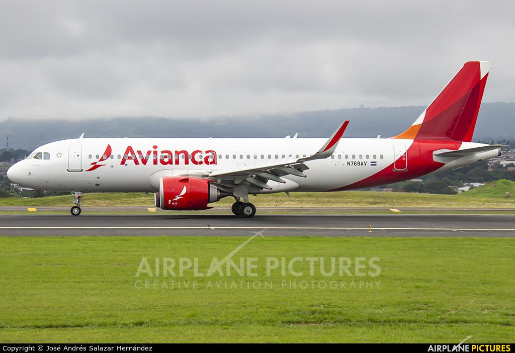 Avianca N769AV aircraft at San Jose - Juan Santamaría Intl