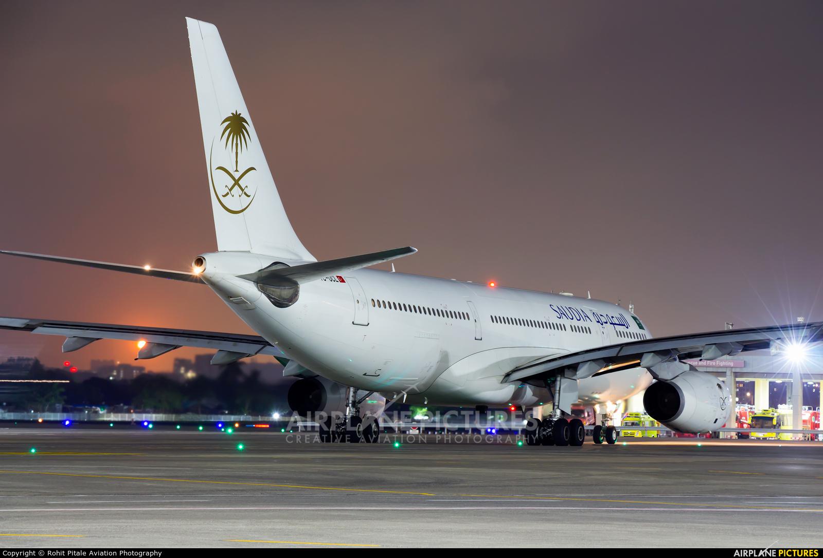 Saudi Arabian Airlines TC-OCL aircraft at Mumbai - Chhatrapati Shivaji Intl