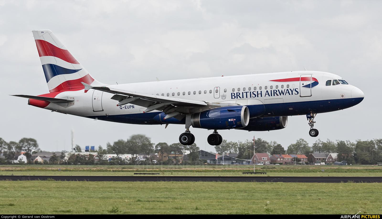 British Airways G-EUPN aircraft at Amsterdam - Schiphol